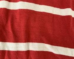 Röd piké med vita ränder från Lindex stl 86