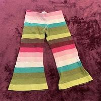 Mångfärgade, randiga och utsvängda leggings från HM stl 98