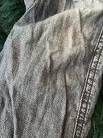 Mörkblå fodrade byxor i jeanslook från Newbie stl 86