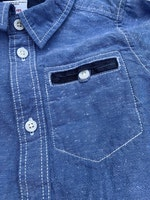 3 delat skjortpaket i vitt och blått från PoP stl 92