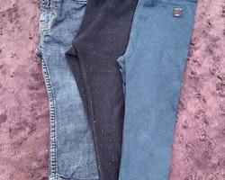 3 delat byxpaket i blått från PoP stl 86 + 86/92