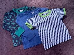 3 delat tröjpaket i blått och grönt från PoP stl 92