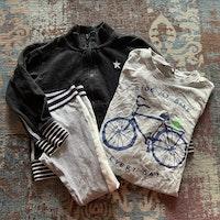 3 delat paket i vitt, grått och svart från Lindex stl 98/104 + 104