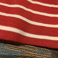 Röd och vit randig tröja från PoP stl 62