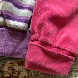 3 delat byxpaket i rosa, grått och lila från Name it stl 68