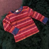 3 delat tröjpaket i mestadels rött, orange och blått från PoP stl 86