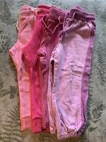 4 delat paket med byxor i rosa nyanser stl 92