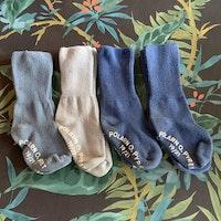 4 delat strumppaket i olika tre blå nyanser från PoP stl 19/21