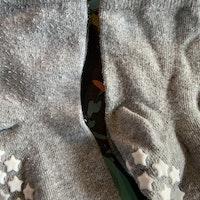 3 delat paket med halkstrumpor i grått stl 22-24