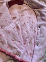 Ljusrosa lättfodrad fleeceoverall med Nalle Puh och Nasse från Disney store stl 56