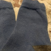 Ljusblå och grå ullstrumpor från PoP stl 22-24