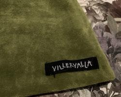 Grön velour mössa från Villervalla stl 1-2 år