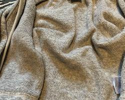 Gråmelerad stickad fleece-/underställströja från PoP stl 74/80
