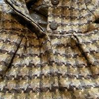 Flerfärgad mönstrad kappa i ullmix stl 68