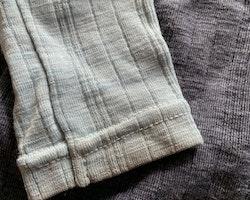 Mörkgrå- och ljusblåmelerad ulltröja från Name it stl 92