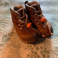Bruna höst-/vinterkängor från Timberland med innermått 15 cm