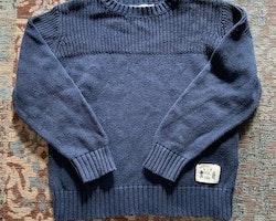 Mörkblå stickad tröja från Åhléns stl 98/104