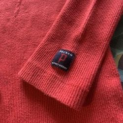 Röd ribbad tröja från PoP stl 86