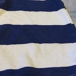 Blå- och vitrandig pikétröja från Lindex stl 98/104