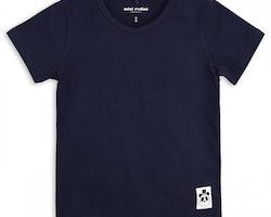 Marinblå t-shirt från Mini Rodini stl 116/122