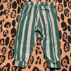 Ljusgrön- och grönrandiga byxor från Mini Rodini stl 68/74