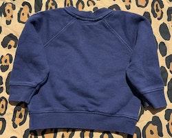 Mörkblå collegetröja med fladdermustryck från Mini Rodini stl 68/74