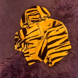Velourset i gult och brun med tigerränder från Mini Rodini stl 68/74