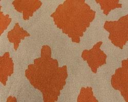 Beige kortärmad topp/tunika/klänning med orangea giraffläckar från Mini Rodini stl 104/110
