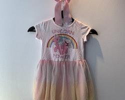 Ljusrosa kortärmad klänning med My Little Pony tryck från Kappahl stl 86/92