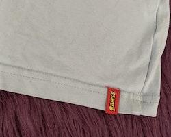 Linne och shorts i ljust- och mörkblått med Bamsetryck från Lindex stl 110/116