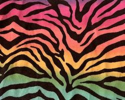 Regnbågsfärgad t-shirt / topp med svarta ränder från Nova Star stl 104-110