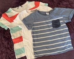 3 delat t-shirtpaket från Lindex stl 98/104 + 104