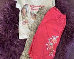 3 delat litet sommarpaket med tropiskt blomtema från HM och Lindex stl 98-104