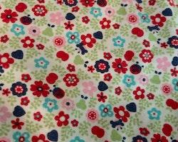 Blommig kortärmad tunika/klänning med ett par rosa bloomers från PoP stl 56