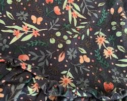 Mörkblått linne och shorts med blommor och jordgubbar från HM stl 80