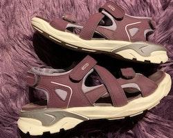 Auberginefärgade sandaler av modellen Biom Raft från Ecco stl 32