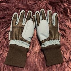 Petrol och svarta vadderade handskar från PoP stl 2-4 år