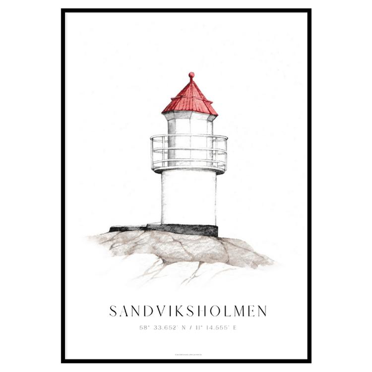 Sandviksholmen Fyr Poster