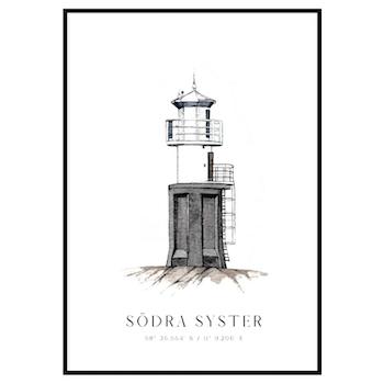 Södra Syster Fyr Poster