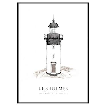 Ursholmen Fyr Poster
