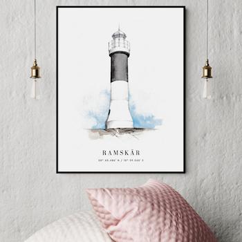 Ramskär Fyr Poster