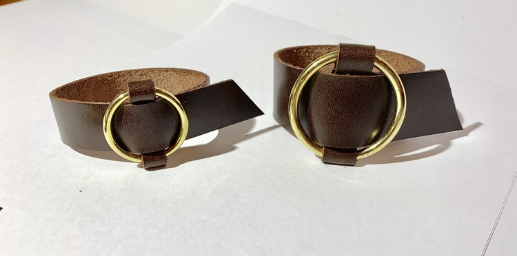 Armband bred, guldfärgad ring