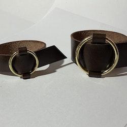 Armband Nina, smalt, guldfärgad ring