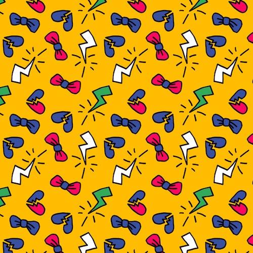 2:a sortering bomullsjersey Grumpy Bows Yellow