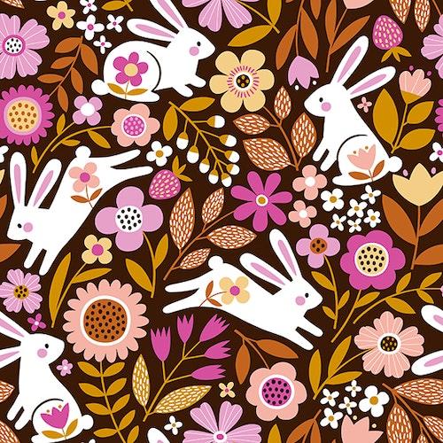 Bomullsjersey Rabbits Maroon