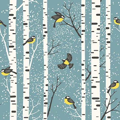 Bomullsjersey Snowy Birch