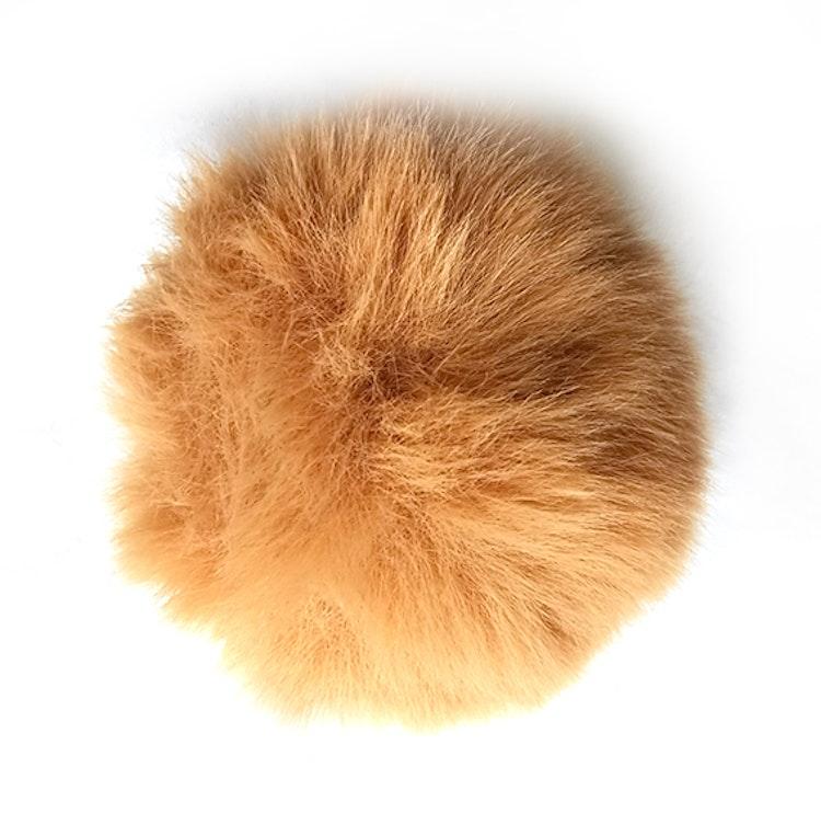 Pälsboll 9 cm Beige