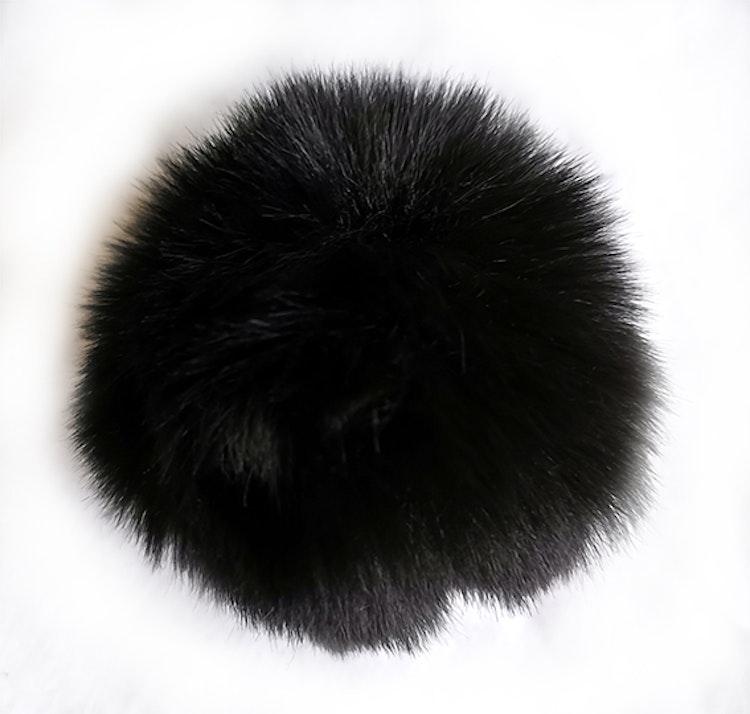 Pälsboll 9 cm Svart