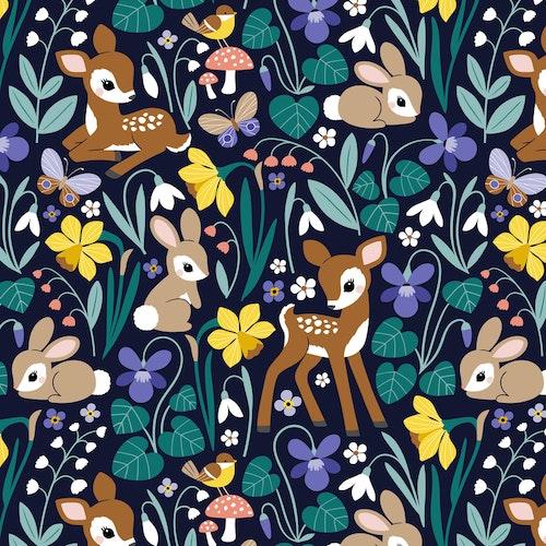 Bomullsjersey Vintage Spring