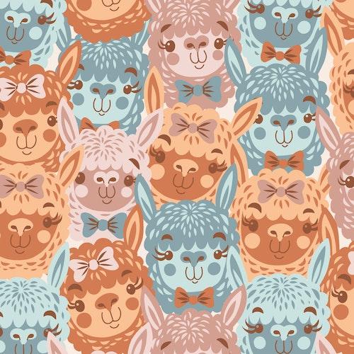 Bomullsjersey Alpacalypse Multi